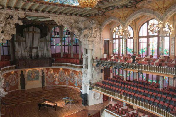Espagne Barcelone Palau de la Musica - escalier