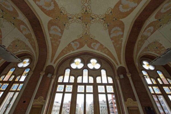 Espagne Barcelone Sant Pau - plafond de l'entrée