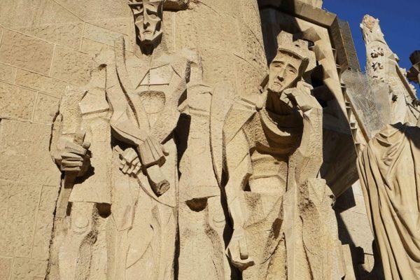 Sagrada Familia en travaux - détail