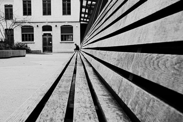 Solitude en noir et blanc