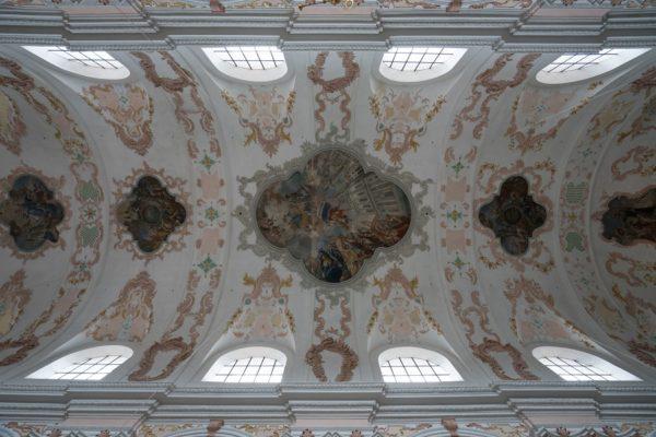 Suisse Lucerne Eglise-de-Jésuites plafond