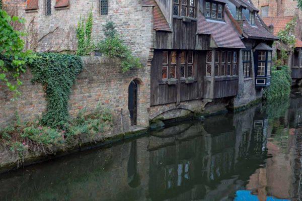 Belgique Bruges vue depuis le pont saint-Boniface