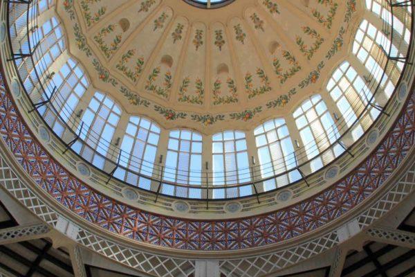 Espagne Valencia Merkat Central coupole au plafond 0448