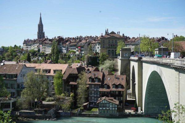 vue sur Berne depuis le pont de Nydegg