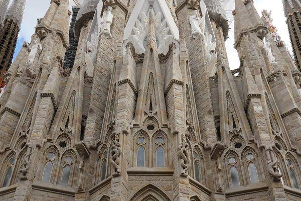 Espagne Barcelone Sagrada Familia extérieur détail façade