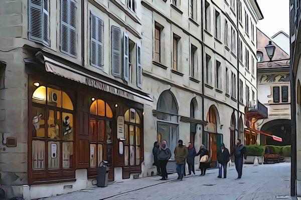 Genève vieille ville artistique
